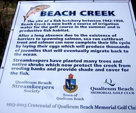 Sign at Qualicum Beach Memorial Golf Course
