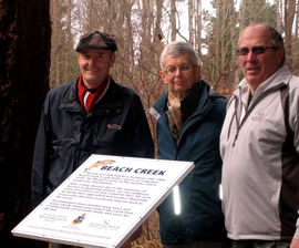 Qualicum Beach Sign Dedication